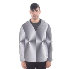 Shiny Metallic Silver Hooded Wind Breaker (Men)