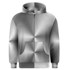 Shiny Metallic Silver Men s Zipper Hoodie