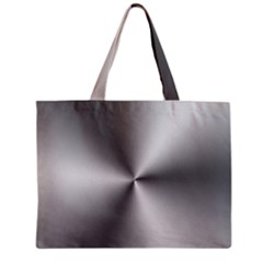 Shiny Metallic Silver Zipper Mini Tote Bag