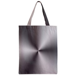 Shiny Metallic Silver Zipper Classic Tote Bag