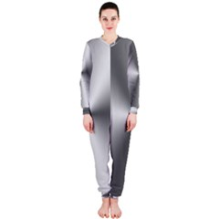 Shiny Metallic Silver OnePiece Jumpsuit (Ladies)