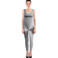 Shiny Metallic Silver OnePiece Catsuit