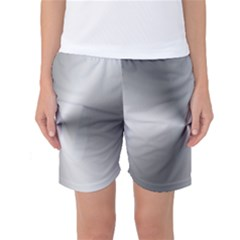 Shiny Metallic Silver Women s Basketball Shorts