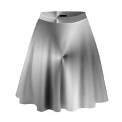 Shiny Metallic Silver High Waist Skirt
