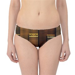 Metallic Geometric Abstract Urban Industrial Futuristic Modern Digital Art Hipster Bikini Bottoms
