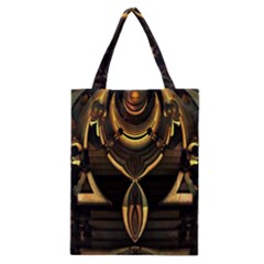 Golden Metallic Geometric Abstract Modern Art Classic Tote Bag
