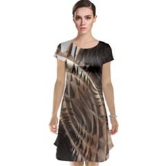 Metallic Copper Abstract Modern Art Cap Sleeve Nightdress