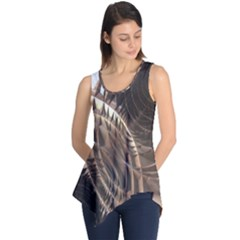 Metallic Copper Abstract Modern Art Sleeveless Tunic