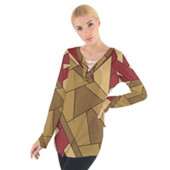 Urban Jungle Tower Brown Red Women s Tie Up Tee