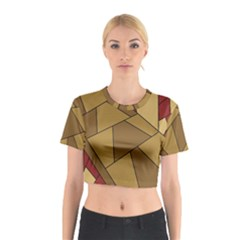 Urban Jungle Tower Brown Red Cotton Crop Top