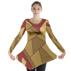 Urban Jungle Tower Brown Red Long Sleeve Tunic