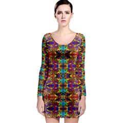 PSYCHIC AUCTION Long Sleeve Bodycon Dress