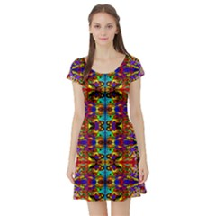 PSYCHIC AUCTION Short Sleeve Skater Dress