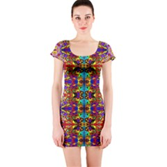PSYCHIC AUCTION Short Sleeve Bodycon Dress