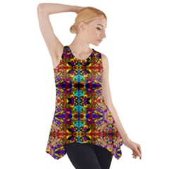 PSYCHIC AUCTION Side Drop Tank Tunic