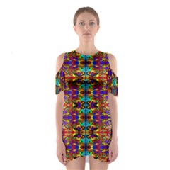 PSYCHIC AUCTION Cutout Shoulder Dress