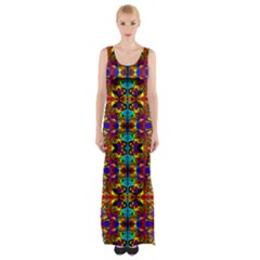 PSYCHIC AUCTION Maxi Thigh Split Dress