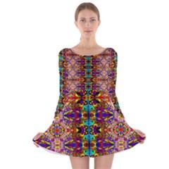 PSYCHIC AUCTION Long Sleeve Velvet Skater Dress