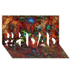 Boho Bohemian Hippie Floral Abstract #1 DAD 3D Greeting Card (8x4)