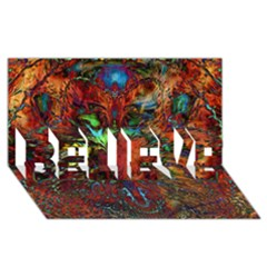 Boho Bohemian Hippie Floral Abstract BELIEVE 3D Greeting Card (8x4)
