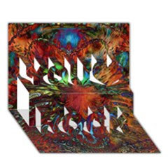 Boho Bohemian Hippie Floral Abstract You Rock 3D Greeting Card (7x5)