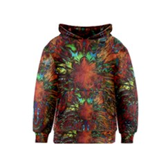 Boho Bohemian Hippie Floral Abstract Kids  Pullover Hoodie