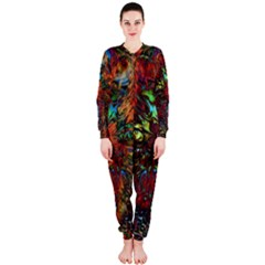 Boho Bohemian Hippie Floral Abstract OnePiece Jumpsuit (Ladies)