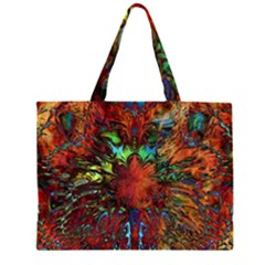 Boho Bohemian Hippie Floral Abstract Large Tote Bag