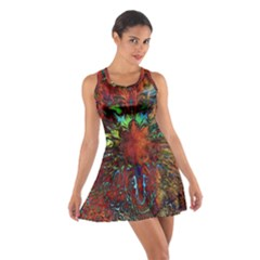 Boho Bohemian Hippie Floral Abstract Racerback Dresses