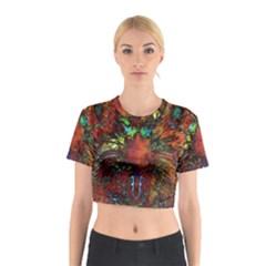 Boho Bohemian Hippie Floral Abstract Cotton Crop Top
