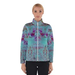 Retro Hippie Abstract Floral Blue Violet Winterwear