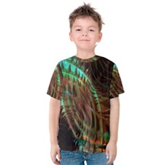 Metallic Abstract Copper Patina  Kid s Cotton Tee