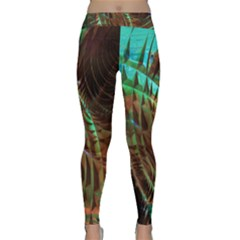 Metallic Abstract Copper Patina  Yoga Leggings
