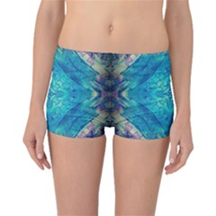 Boho Hippie Tie Dye Retro Seventies Blue Violet Boyleg Bikini Bottoms