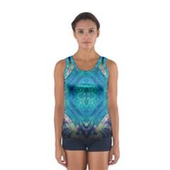 Boho Hippie Tie Dye Retro Seventies Blue Violet Tops