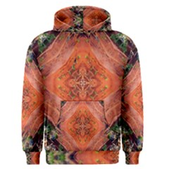 Boho Bohemian Hippie Floral Abstract Faded  Men s Pullover Hoodie