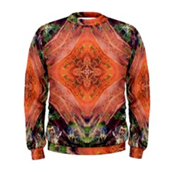 Boho Bohemian Hippie Floral Abstract Faded  Men s Sweatshirt