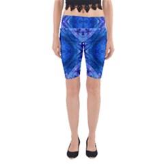 Boho Bohemian Hippie Tie Dye Cobalt Yoga Cropped Leggings