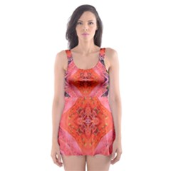Boho Bohemian Hippie Retro Tie Dye Summer Flower Garden design Skater Dress Swimsuit