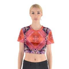 Boho Bohemian Hippie Retro Tie Dye Summer Flower Garden design Cotton Crop Top