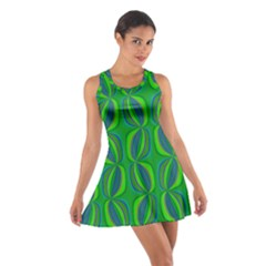 Seed Pods Wavy Abstract African Pattern Racerback Dresses