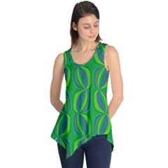 Seed Pods Wavy Abstract African Pattern Sleeveless Tunic