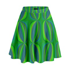 Seed Pods Wavy Abstract African Pattern High Waist Skirt