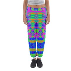 Neon Abstract Circles Women s Jogger Sweatpants