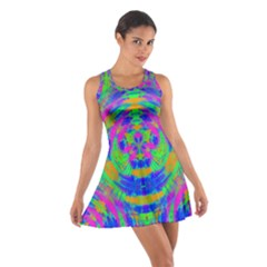 Neon Abstract Circles Racerback Dresses