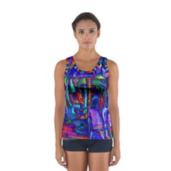 Neon Abstract Modern Art Tops
