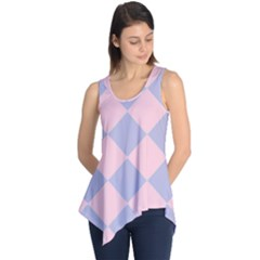 Harlequin Diamond Argyle Pastel Pink Blue Sleeveless Tunic