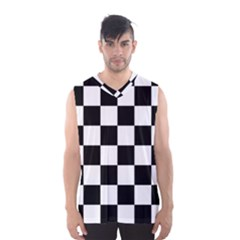 Checkered Flag Race Winner Mosaic Tile Pattern Men s Basketball Tank Top