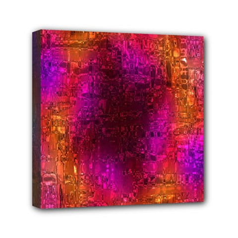 Purple Orange Pink Colorful Mini Canvas 6  x 6