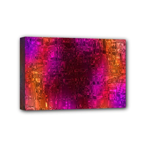 Purple Orange Pink Colorful Mini Canvas 6  x 4